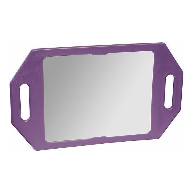 123 Hair and Beauty Two Handed Mirror Purple