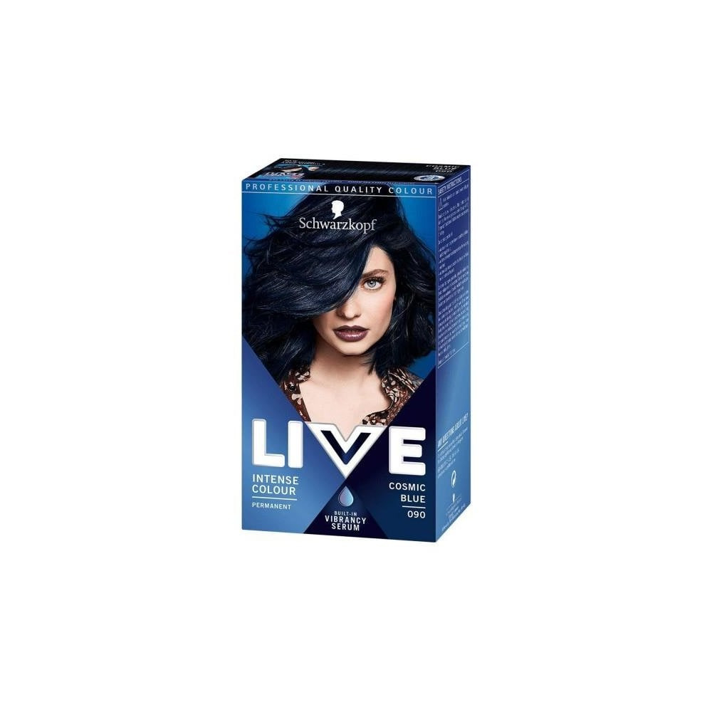 3 X Schwarzkopf Live Intense Hair Color Cosmic Blue 90