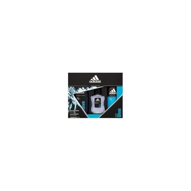Adidas Ice Dive Gift Set - 50ml EDT, 150ml Shower Gel & 150ml Deodorant