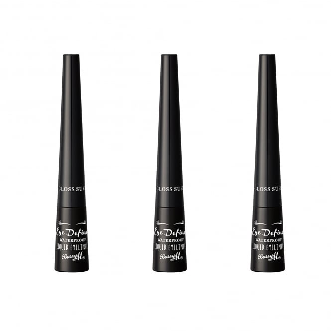 Barry M X 3 Define Liquid Eyeliner Super Gloss Black