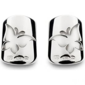 Bohem Silver Butterfly Nails - Pair
