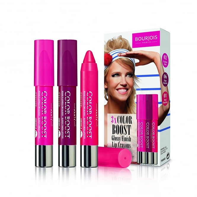 Bourjois Color Boost 3 x Glossy Finish lip Crayons