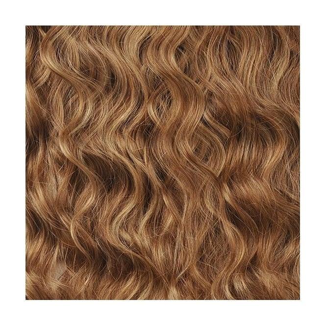 Golden Brownbutterscotch Spiral Curl Striped Hair Extension Colour