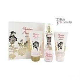 Christina Aguilera Gold Flower Gift Set - 30ml EDP, 50ml Body Lotion, 50ml Shower Gel