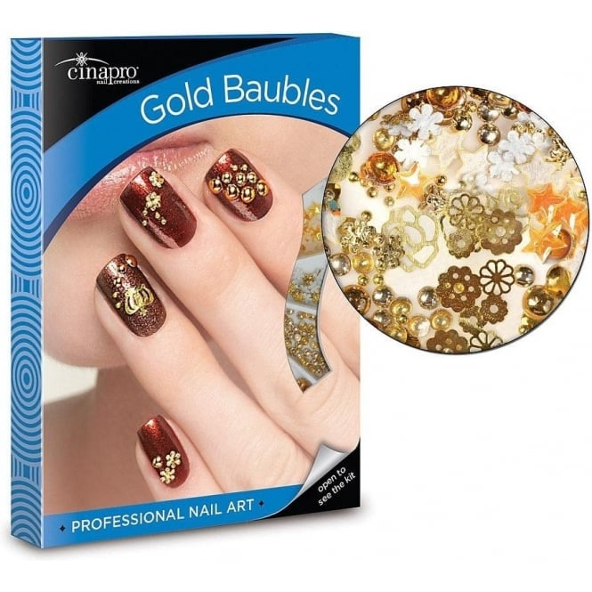 Cinapro Gold Baubles Nail Art Kit