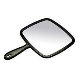 Black Hand Held Hairdressing Mirror