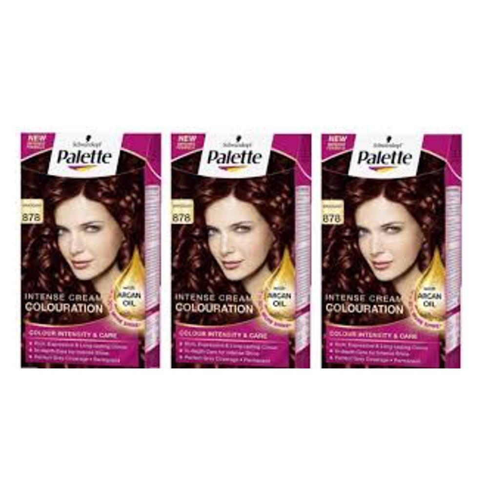 X 3 Palette Intensive Cream Colour 878 Mahogany