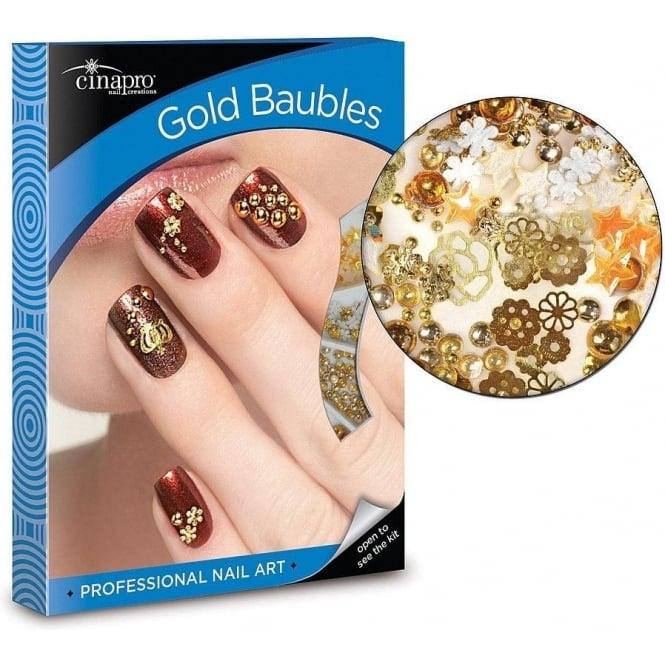Cinapro Gold Baubles Nail Art Kit