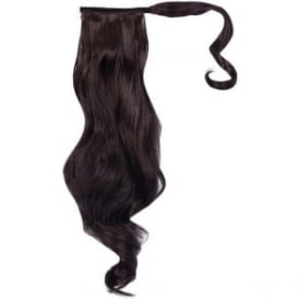 Long Wave Ponytail Midnight Brown