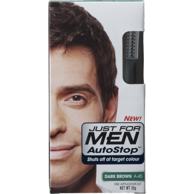 Just For Men 3 x AutoStop Foolproof Haircolour Dark Brown (A45)