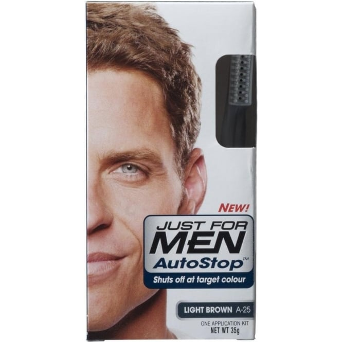 Just For Men 3 x AutoStop Foolproof Haircolour Light Brown (A-25)