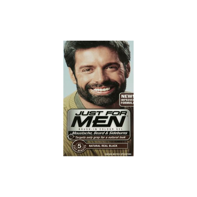 Just For Men 3 x Brush In Colour Gel Real Black (M55) Facial Hair Colour