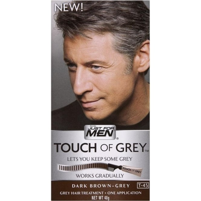 Just For Men 3 x Touch of Grey Dark Brown/Grey (T-45)