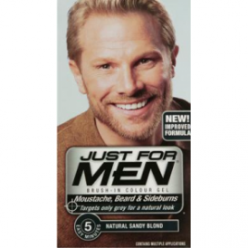 Just For Men Brush In Colour Gel Sandy Blonde (M10) Facial Hair Colour