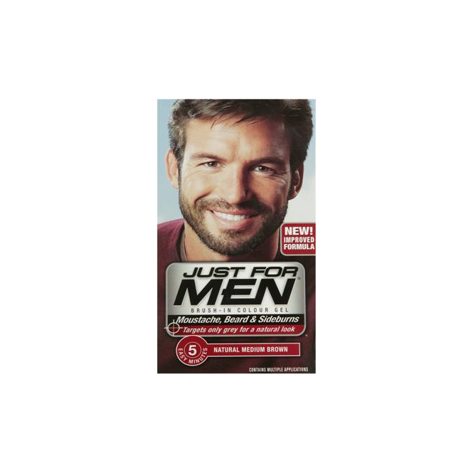 Just For Men Brush In Colour Gel Med Brown (M35) Facial Hair Colour