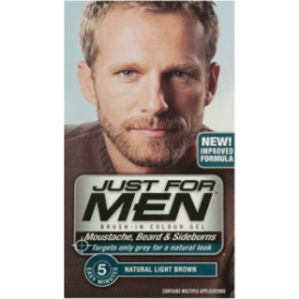 Just For Men Brush In Colour Gel Natural Light Brown (M25) Facial Hair