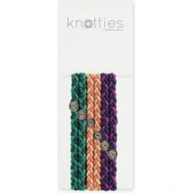 Knotties Braided Elastic Hair Ties – Sweet and Tart 6 Pack
