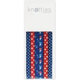 Knotties Wide Elastic Hair Ties - Sail Away 6 Pack