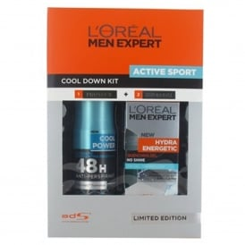 L'Oreal Men Expert Set Active Sport Cool Down Kit 48 Hour Anti-Perspirant/Hydra Gel 50ml