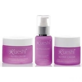 Kueshi Nutrix Set – Caviar Cream, Serum & Eye Cream