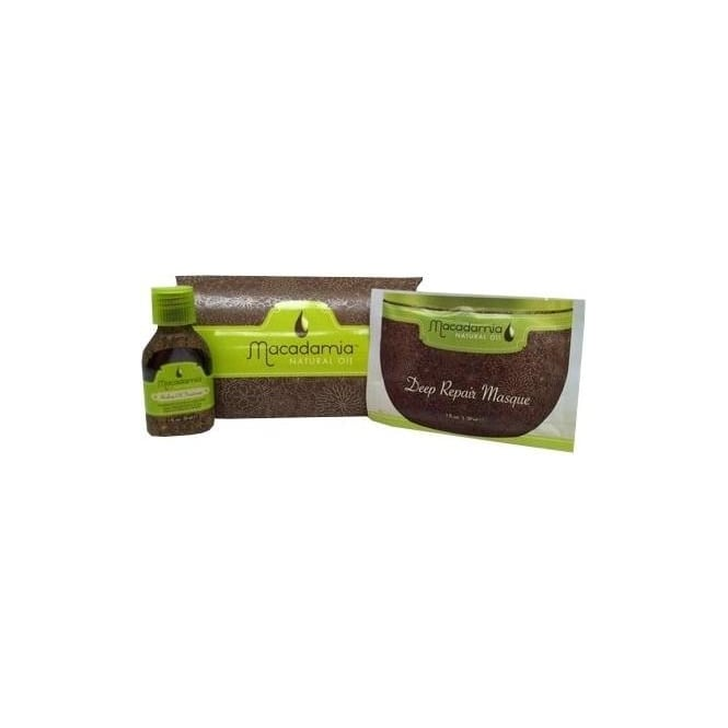 Macadamia Oil DISCONTINUED Macadamia Get Hooked Pack - 10ml Healing Oil Treatment & 30ml Deep Repair Masque