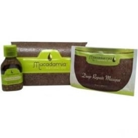 Macadamia Get Hooked Pack - 10ml Healing Oil Treatment & 30ml Deep Repair Masque