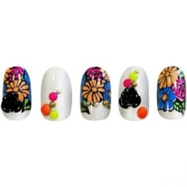Nazila Love Glamour Nail Art Psychedelic flower