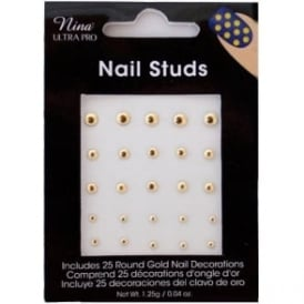 NUP Assorted Gold Round Studs