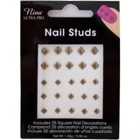 NUP Square Bronze Studs