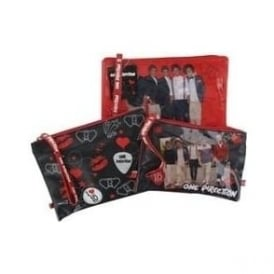 One Direction Set of 3 Cosmetic Bags