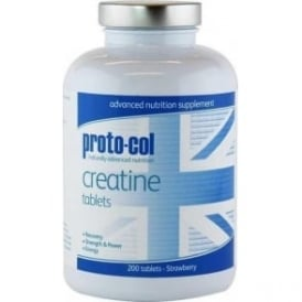 Proto-col Creatine Tablets Strawberry (200 tabs)