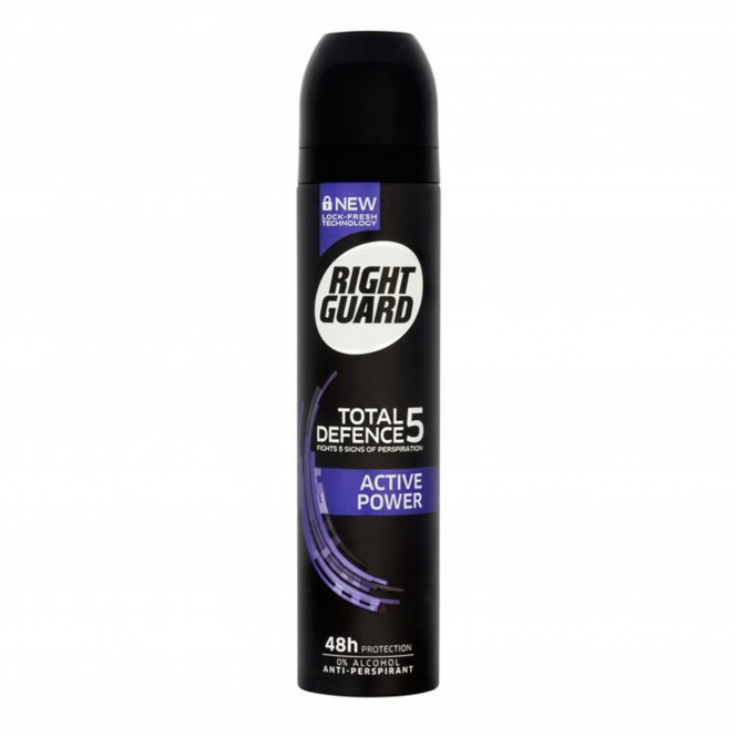 Right Guard Total Defence 5 Active Power Aerosol