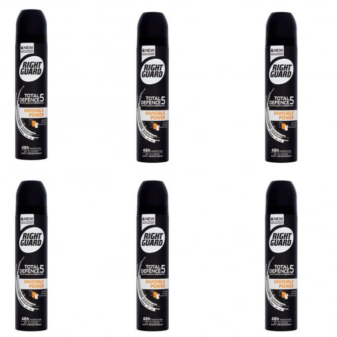Right Guard X6 Total Defence 5 Invisible Power Aerosol
