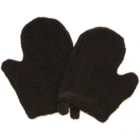 Salon Services Cotton Mitts Black With Thumb