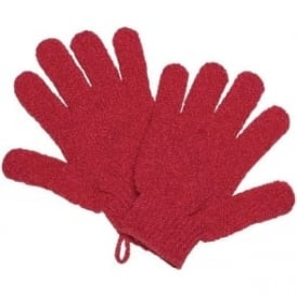 Salon Services Exfoliating Gloves Pink
