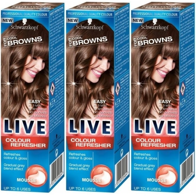 Schwarzkopf 3 X LIVE Colour Refresher for Cool Browns