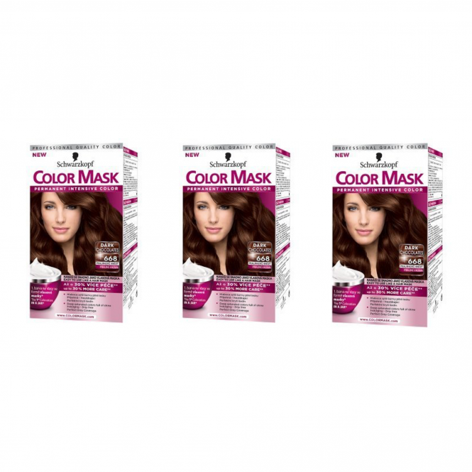 Schwarzkopf X 3 Color Mask 668 Praline Brown