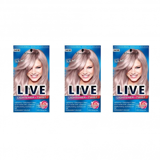 Schwarzkopf X 3 Live Lightener + Twist Cool Lilac 104