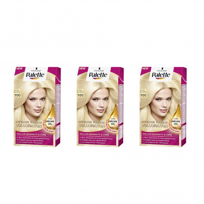 Schwarzkopf X 3 Palette Intensive Cream Colour 100 Ultra Blonde