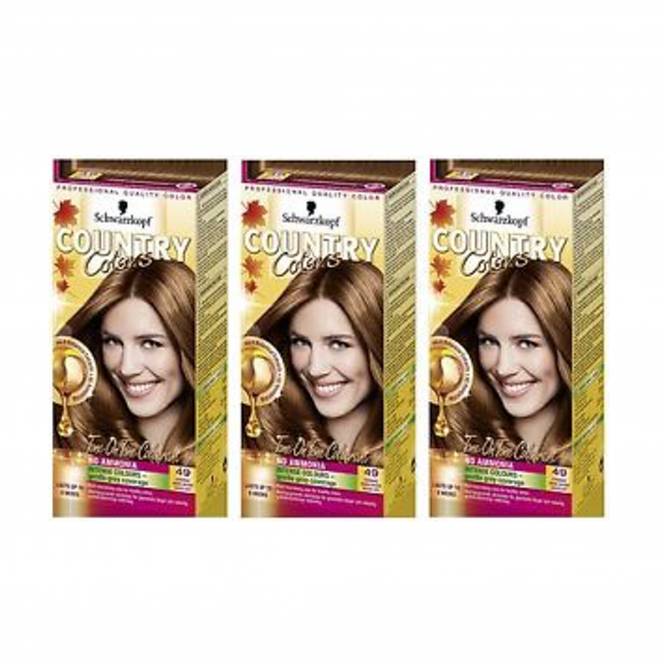 Schwarzkopf X3 Country Colors 49 Cognac - Warm Brown
