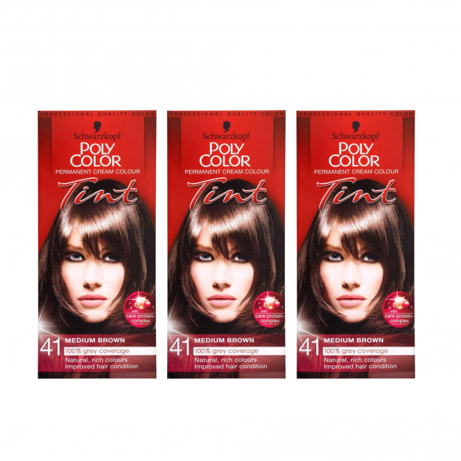 Schwarzkopf X3 Poly Color Tint 41 Natural Medium Brown