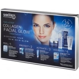 SkinPep 4 Step Collagen Facial Glow Treatment - 14 Day Set