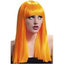 Alexia Fever Wig, 19inch/48cm Neon Orange