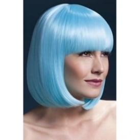 "Fever Elise Wig Aqua, Sleek Bob with Fringe (13"", 33cm)"