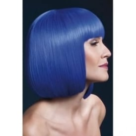 "Fever Elise Wig Neon Blue, Sleek Bob with Fringe (13"", 33cm)"