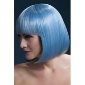 "Fever Elise Wig Pastel Blue, Sleek Bob with Fringe (13"", 33cm)"