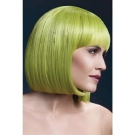 "Fever Elise Wig Pastel Green, Sleek Bob with Fringe (13"", 33cm)"
