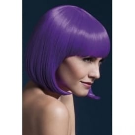 "Fever Elise Wig Purple, Sleek Bob with Fringe (13"", 33cm)"