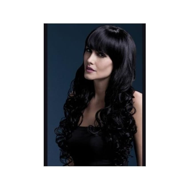 Smiffy's Fever Isabelle Wig, 26inch/66cm Black