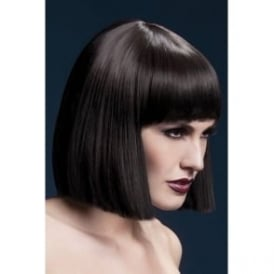 "Fever Lola Wig Brown, Blunt Cut Bob with Fringe (12"", 30cm)"